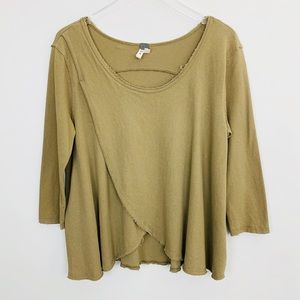 Free People | Bonsai Tee M Washed Olive Boho